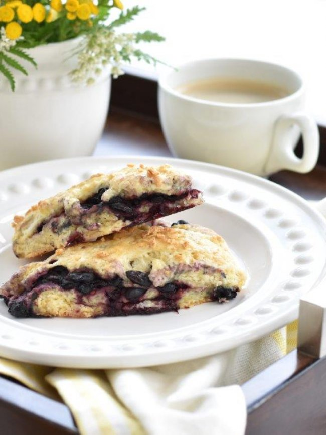 Blue Honeyberry and Orange Scones